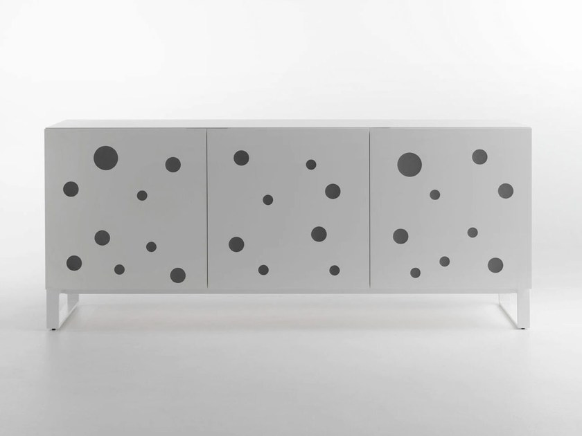 Lacquered sideboard POLKA DOTS FULLWHITE - HORM.IT