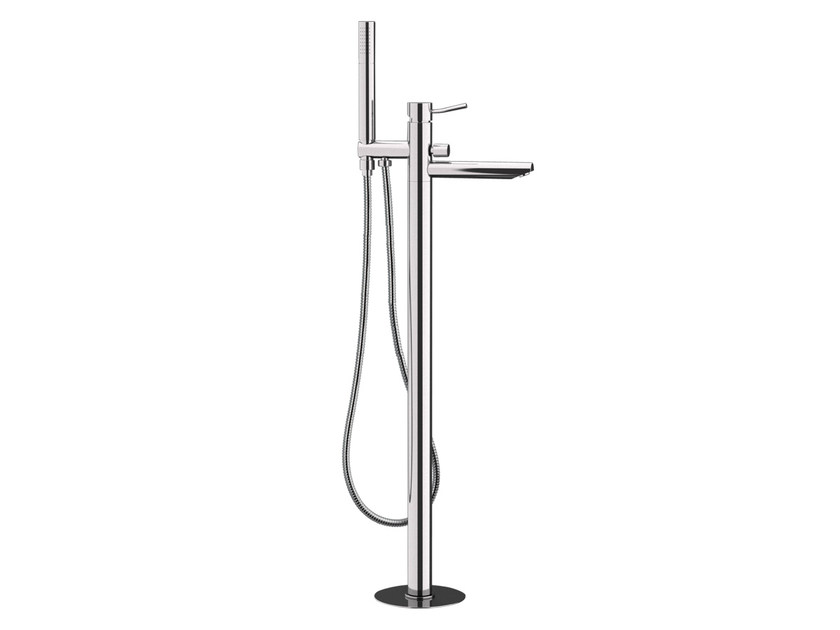 Chrome-plated floor standing bathtub mixer MINIMAL | Floor standing bathtub mixer - Remer Rubinetterie
