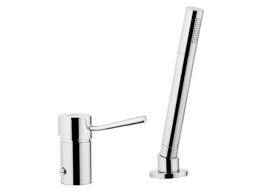Bathtub mixer with hand shower MINIMAL | Bathtub mixer by Remer Rubinetterie