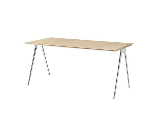 Folding rectangular meeting table A-TABLE - Brunner