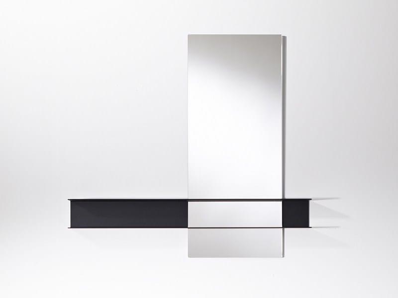 Contemporary style freestanding rectangular round bathroom mirror SLIDE | Contemporary style mirror - DEKNUDT MIRRORS