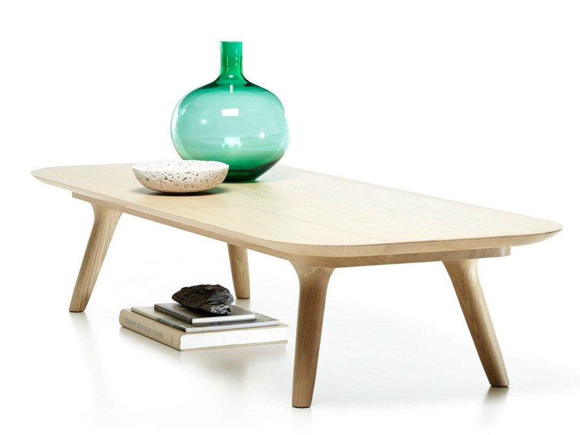Rectangular oak coffee table ZIO COFFEE TABLE   Rectangular coffee table - Moooi©