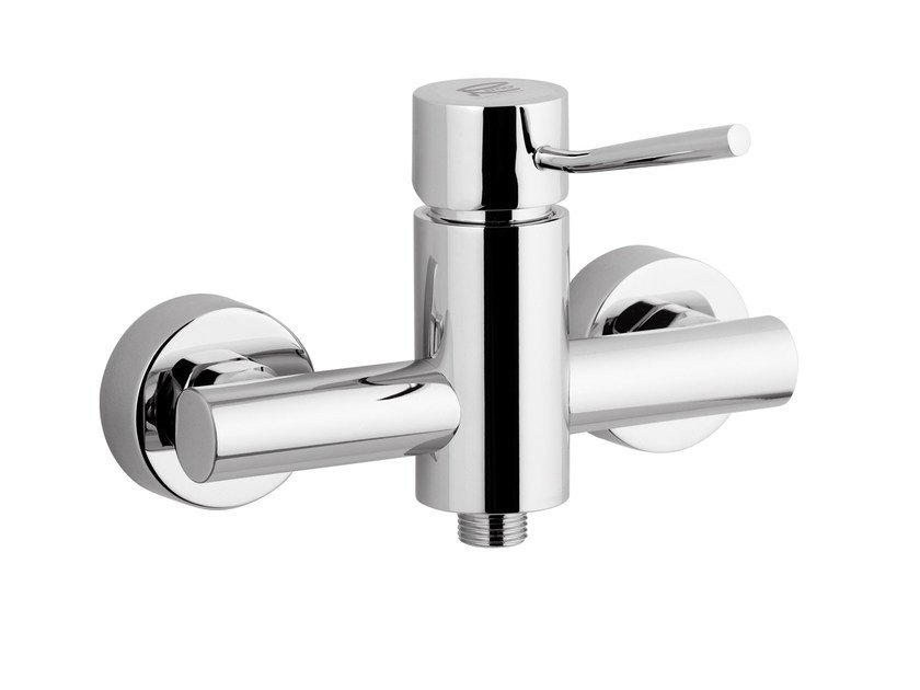 Single handle chromed brass shower mixer MINIMAL | Single handle shower mixer - Remer Rubinetterie