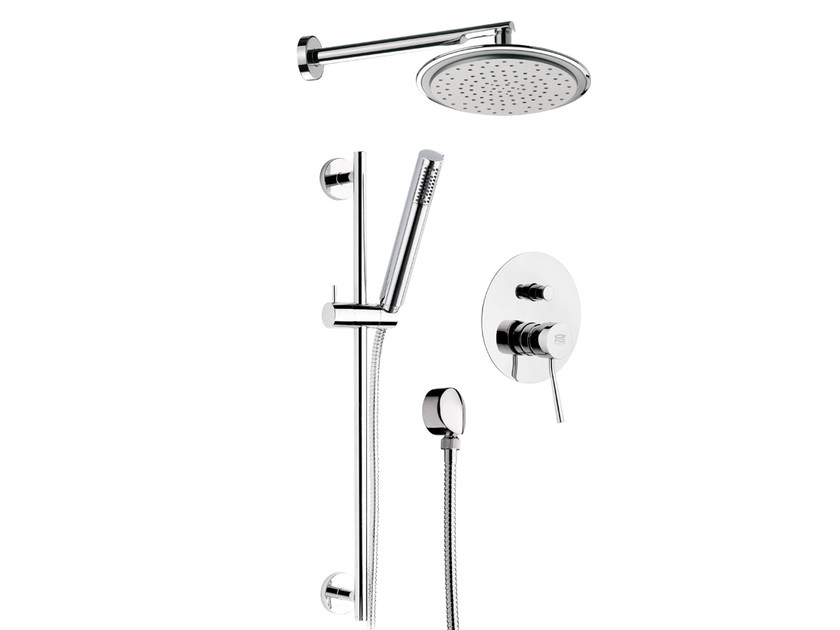 Chromed brass shower mixer with hand shower MINIMAL | Shower mixer with hand shower by Remer Rubinetterie