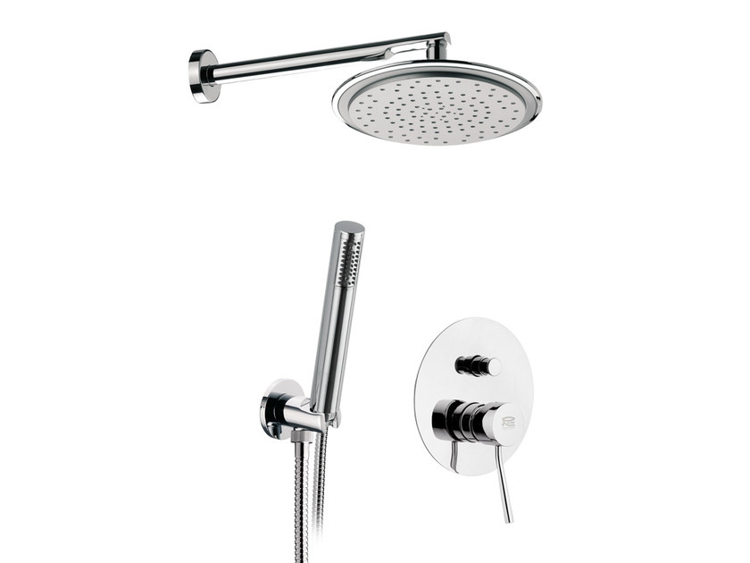 Chromed brass shower mixer with diverter MINIMAL | Shower mixer with diverter - Remer Rubinetterie
