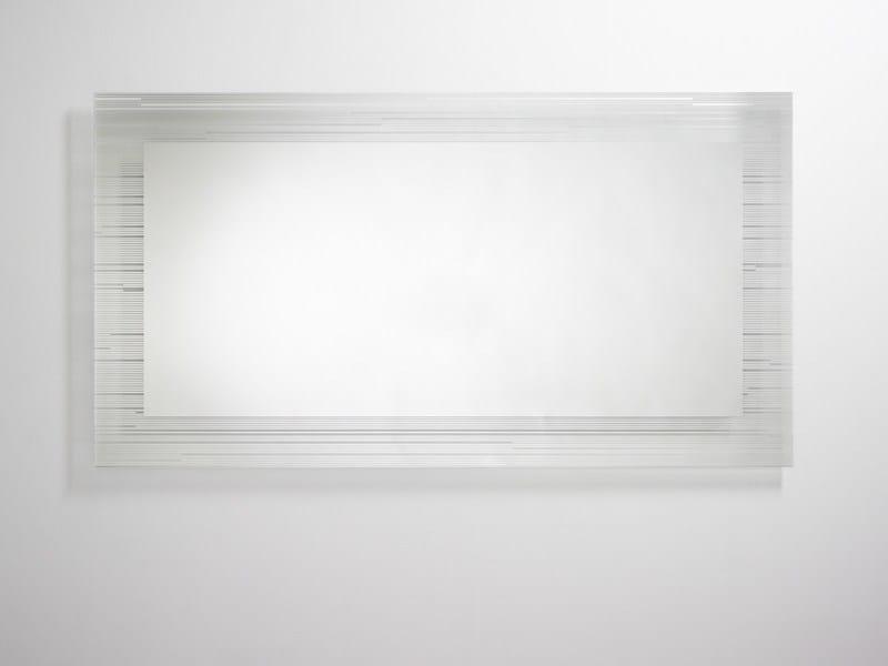 Contemporary style rectangular wall-mounted bathroom mirror SONAR | Contemporary style bathroom mirror - DEKNUDT MIRRORS