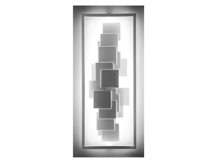 LED indirect light wall lamp SCULPTURAL LT - CINIER Radiateurs Contemporains