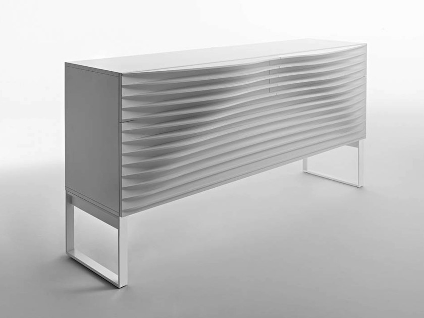 Lacquered sideboard TIDE BUFFET | Sideboard with drawers - HORM.IT