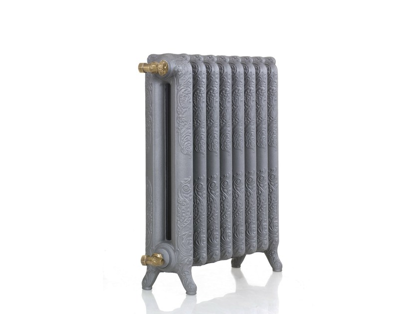 Termoarredo in ghisa in stile classico a pavimento leon by for Radiateur contemporain