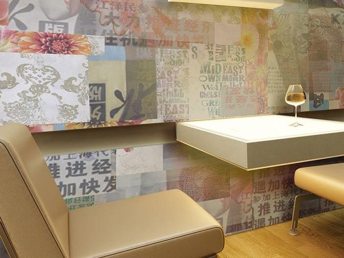 Motif vinyl wallpaper NEW HORIZONS by GLAMORA