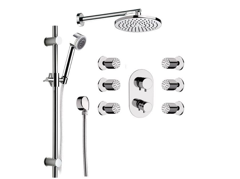 Built-in shower panel with overhead shower MINIMAL THERMO | Shower panel with overhead shower - Remer Rubinetterie