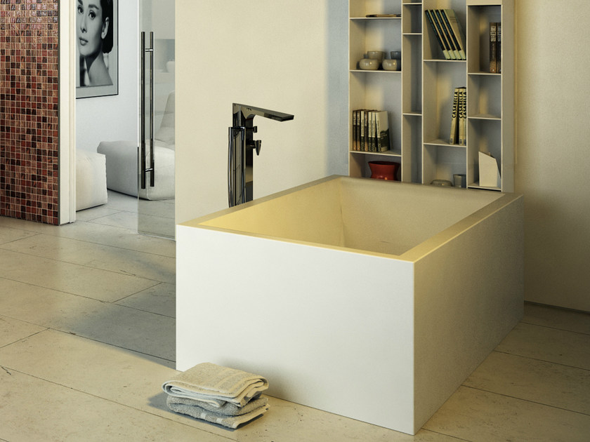 Rectangular bathtub PEARL TUB - DIMASI BATHROOM by Archiplast