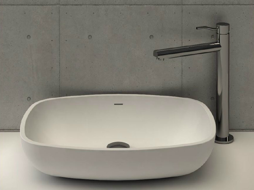Countertop oval washbasin CALICE - DIMASI BATHROOM by Archiplast
