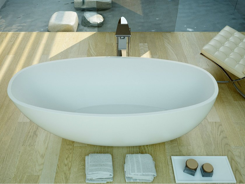 Oval bathtub RUBY TUB - DIMASI BATHROOM by Archiplast