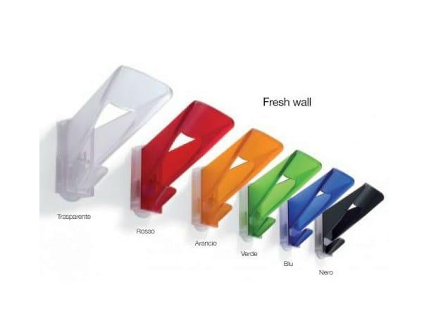 Wall-mounted plastic coat rack FRESH WALL - Castellani.it