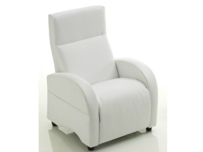 Recliner armchair with removable cover with footstool 310 | Armchair - Castellani.it
