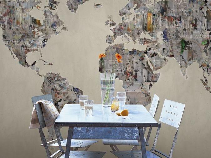 Washable vinyl wallpaper LATITUDE by GLAMORA