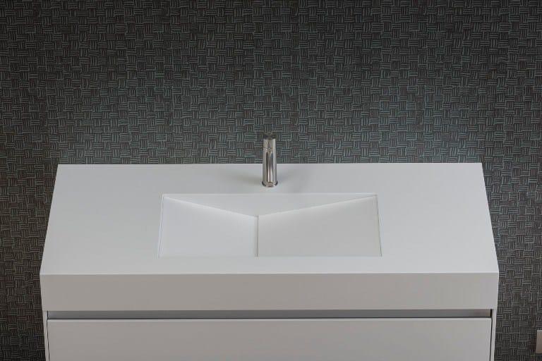 Countertop rectangular Corian® washbasin D TAGLIO | Corian® washbasin - Rexa Design