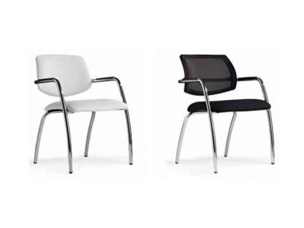 Mesh reception chair with armrests KEY - Castellani.it