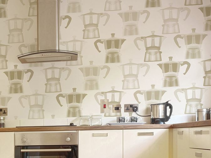 Motif vinyl wallpaper SOUL KITCHEN by GLAMORA