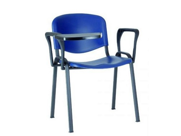 Stackable training chair with armrests with writing tablet SED | Training chair with writing tablet - Castellani.it