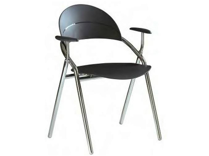 Polypropylene chair with armrests LUNA | Chair with armrests - Castellani.it