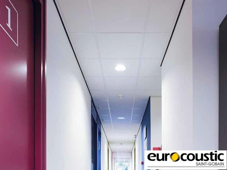 Acoustic rock wool ceiling tiles AREA® - Saint-Gobain Gyproc