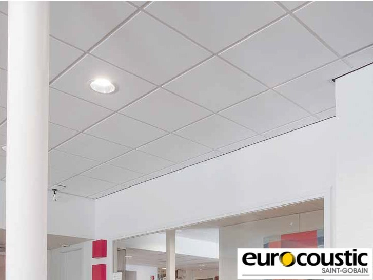 Acoustic rock wool ceiling tiles ERMES® by Saint-Gobain Gyproc