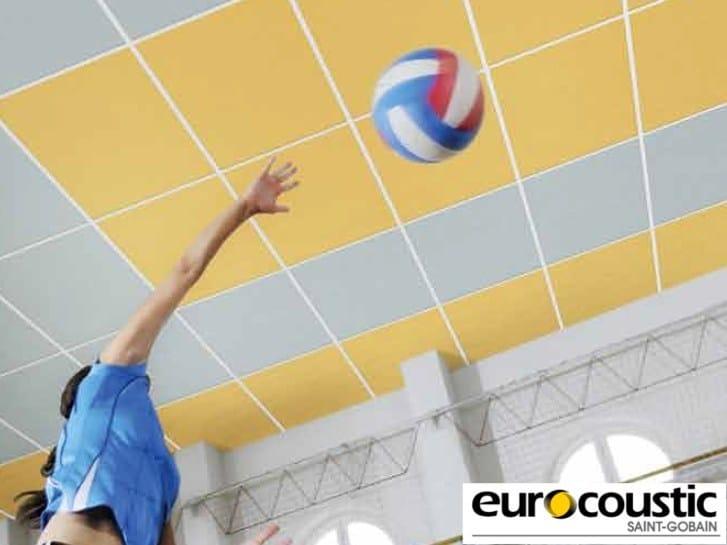 Acoustic rock wool ceiling tiles ACOUSTICHOC® - Saint-Gobain Gyproc