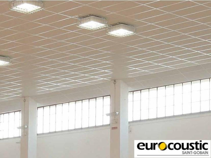 Acoustic rock wool ceiling tiles ACOUSTICHOC® IMPACT 15 by Saint-Gobain Gyproc