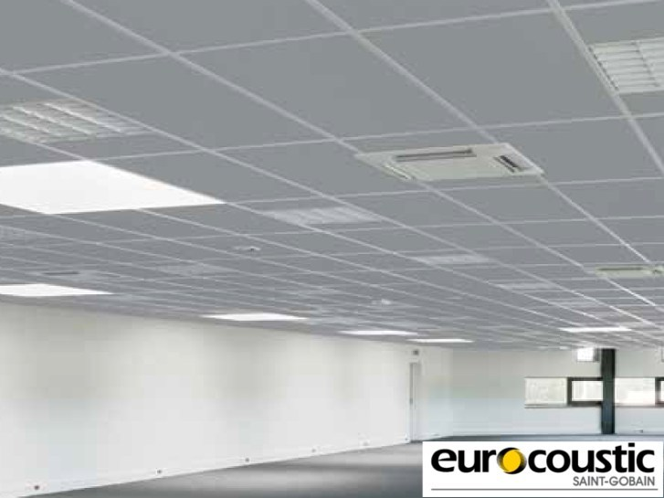 Acoustic rock wool ceiling tiles ACOUSTISHED® - Saint-Gobain Gyproc