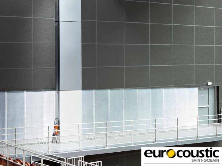 Rock wool Sound insulation and sound absorbing panel in mineral fibre ACOUSTISHED® MURAL - Saint-Gobain Gyproc