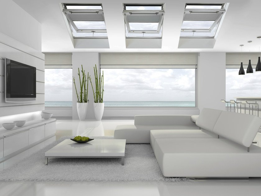Centre-pivot laminated wood roof window STYLE PLUS by CLAUS