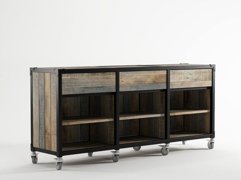 Wooden sideboard with drawers AK- 14 | Sideboard with drawers - KARPENTER
