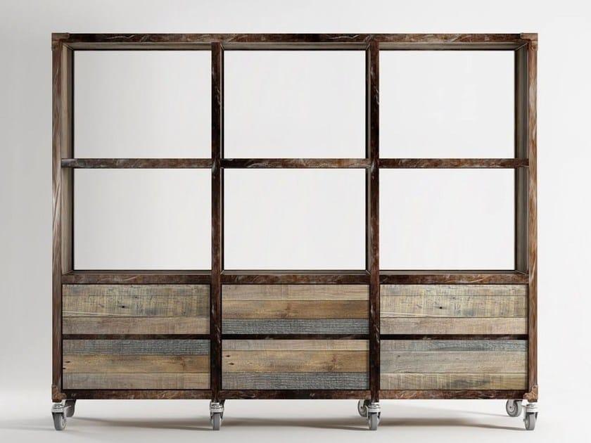 Libreria in legno con cassetti su ruote AK- 14   Libreria con ...