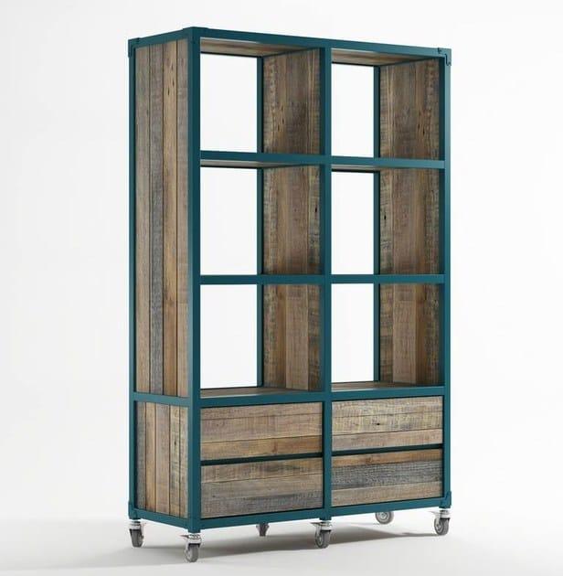 Libreria autoportante in legno con cassetti ak 14 for Libreria velux