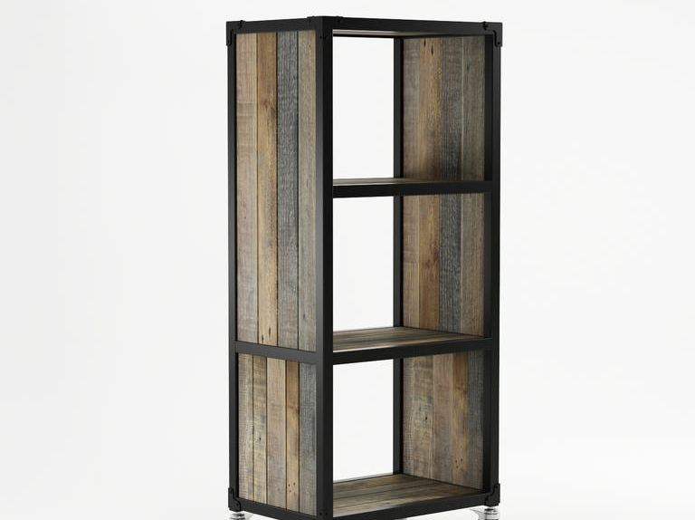 Freestanding wooden bookcase with casters AK- 14 | Bookcase - KARPENTER