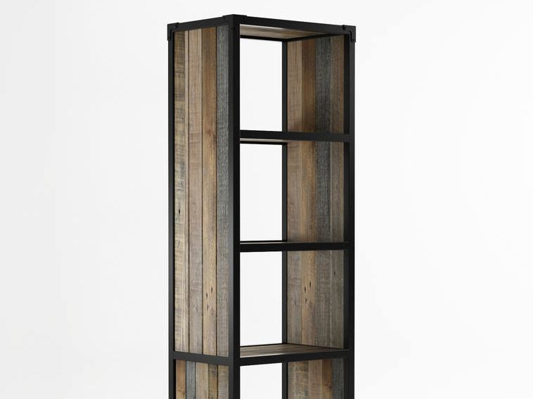 Freestanding wooden bookcase with casters AK- 14 | Freestanding bookcase - KARPENTER