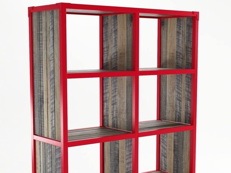 Freestanding wooden bookcase with casters AK- 14 | Wooden bookcase by KARPENTER
