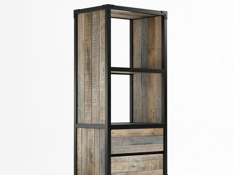 Freestanding wooden bookcase with drawers AK- 14 | Bookcase with drawers - KARPENTER