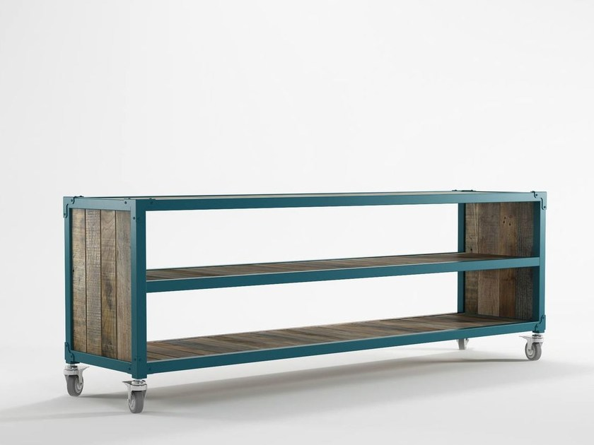 Wooden TV cabinet / sideboard AK- 14 | TV cabinet with casters by KARPENTER