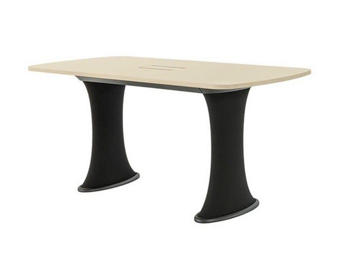 Height-adjustable wooden table DRESS | Height-adjustable table - Brunner