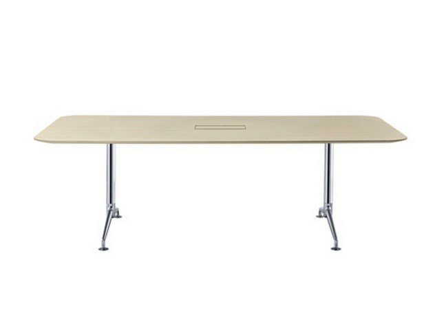 Modular folding meeting table FINA FLEX CONFERENCE by Brunner