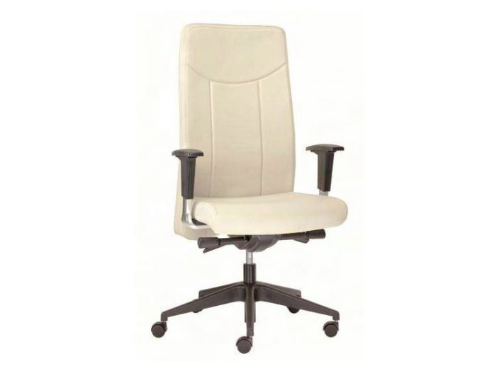 Height-adjustable executive chair with casters OXFORD | Executive chair - Castellani.it