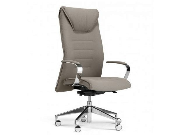 Height-adjustable high-back executive chair with 5-spoke base DRIVE | High-back executive chair - Castellani.it