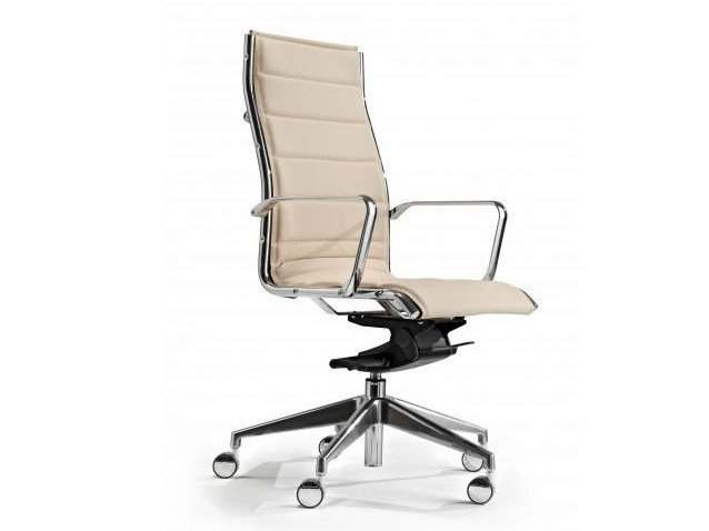 High-back executive chair with 5-spoke base COMET | High-back executive chair - Castellani.it