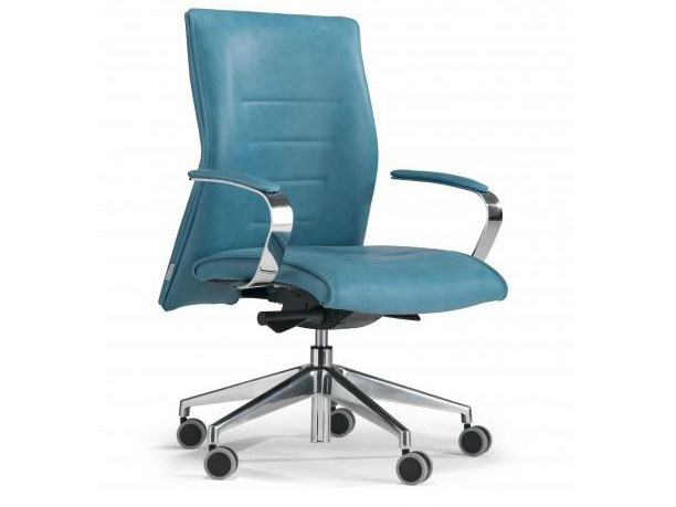 Height-adjustable medium back executive chair with 5-spoke base DRIVE | Executive chair - Castellani.it