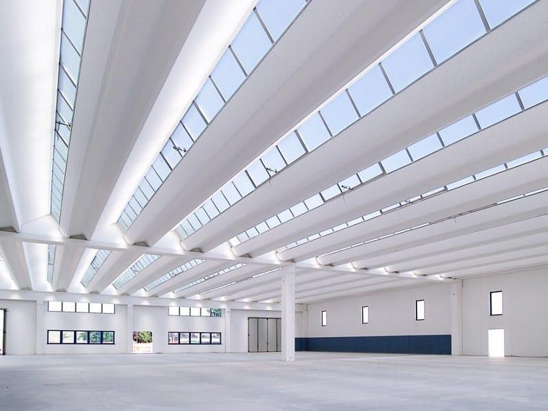 Copertura a shed per edifici prefabbricati copertura z for Capannone moderno