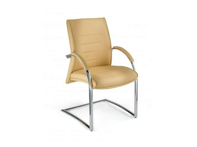 Cantilever reception chair with armrests DRIVE | Reception chair - Castellani.it