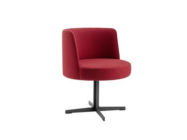 Upholstered easy chair with 4-spoke base BANC | Easy chair with 4-spoke base - Brunner